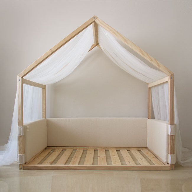 Montessori-small-bed-90x140cm-side-cushion